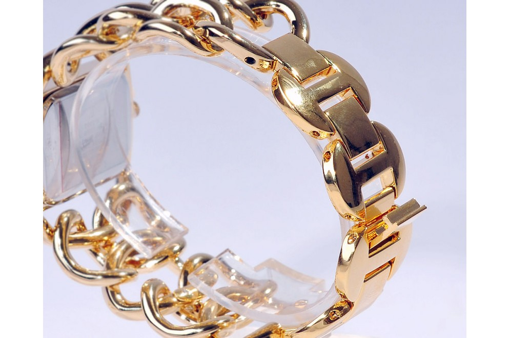 montre femme bijoux bracelet gourmette plaqu or tresoravenue. Black Bedroom Furniture Sets. Home Design Ideas