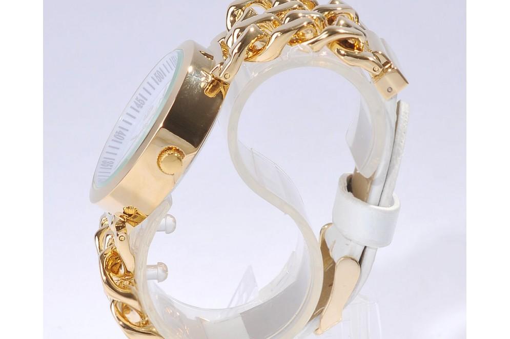 montre femme bijoux bracelet gourmette plaqu or cuir fob05 tresoravenue. Black Bedroom Furniture Sets. Home Design Ideas